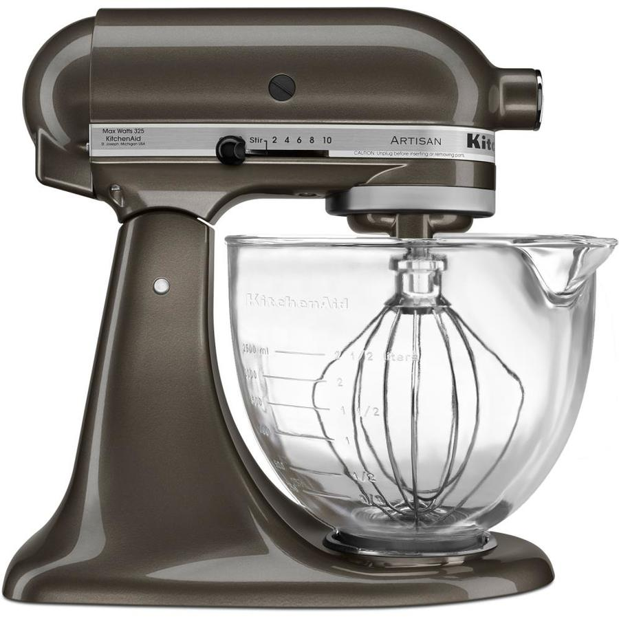 Kitchenaid Artisan Designer Designer 5 Quart 10 Speed Truffle Dust Residential Stand Mixer In The Stand Mixers Department At Lowes Com