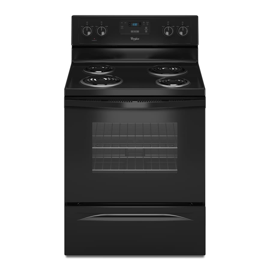 Whirlpool Freestanding 4.8-cu ft Electric Range (Black) (Common: 30-in; Actual: 29.87-in)