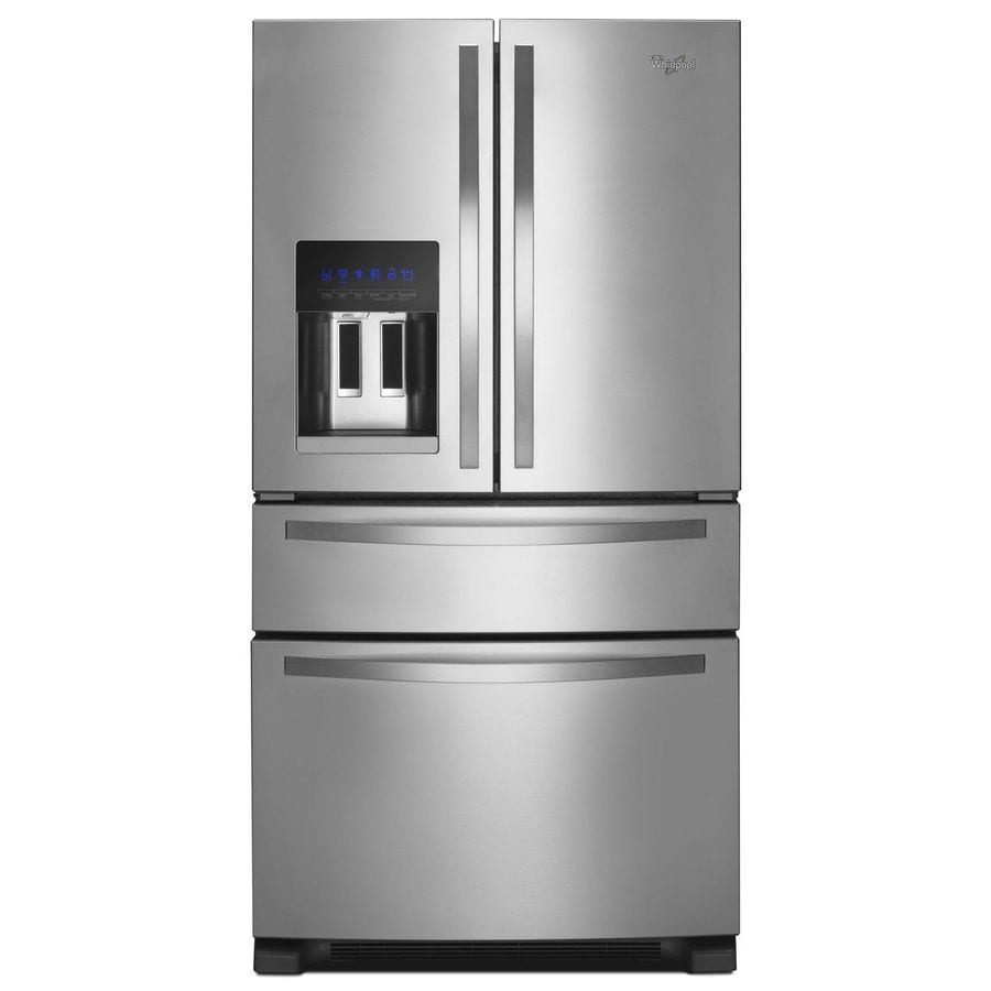 Whirlpool 24.7-cu ft 4-Door French Door Refrigerator with Single Ice Maker (Monochromatic Stainless Steel)