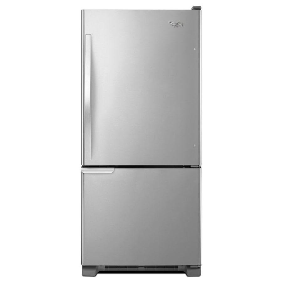 Whirlpool 18.7-cu ft Bottom-Freezer Refrigerator (Stainless Steel) ENERGY STAR