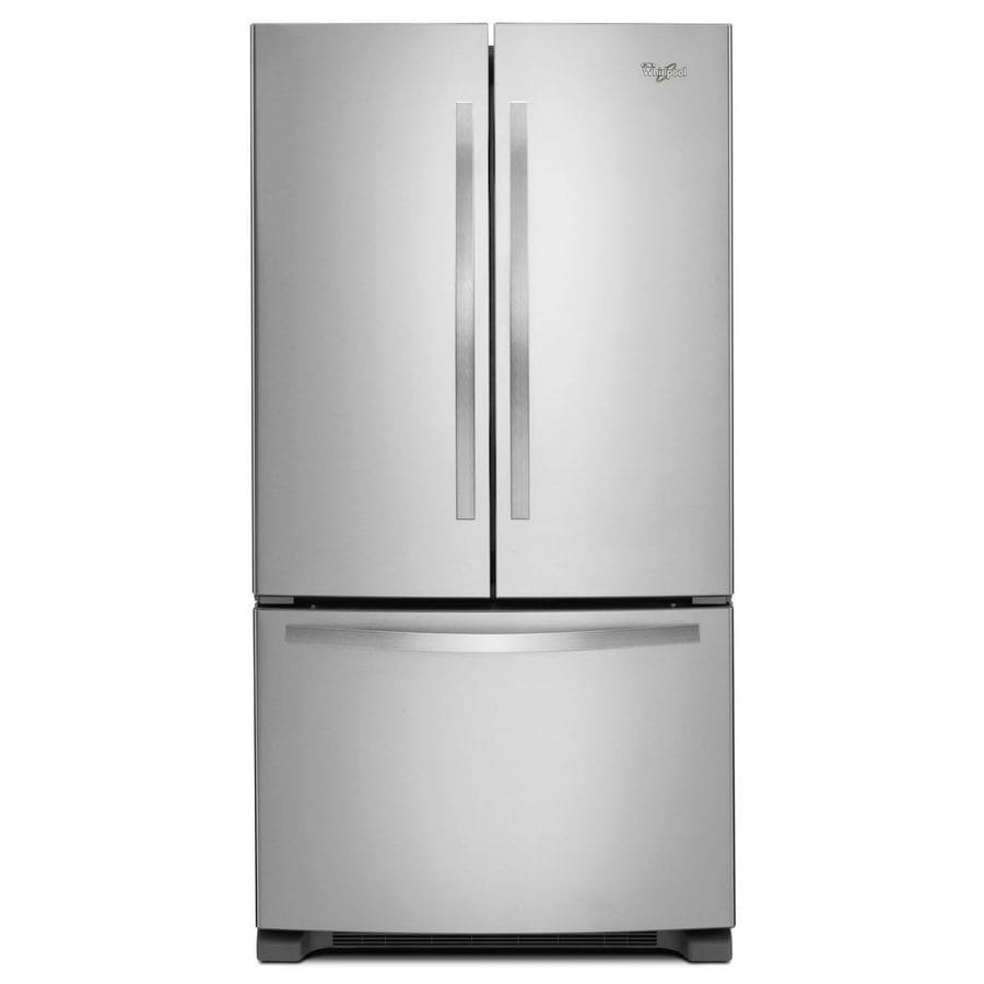 Whirlpool 22.1-cu ft French Door Refrigerator with Single Ice Maker (Stainless Steel) ENERGY STAR
