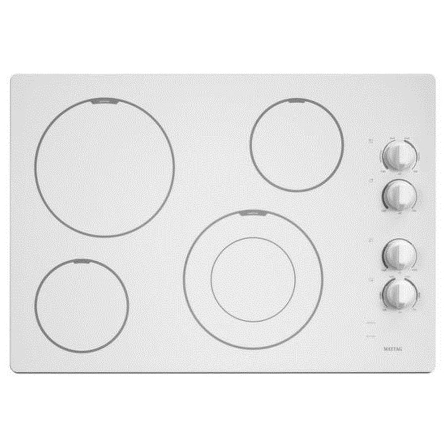 Maytag Smooth Surface Electric Cooktop (White) (Common: 30-in; Actual 31-in)