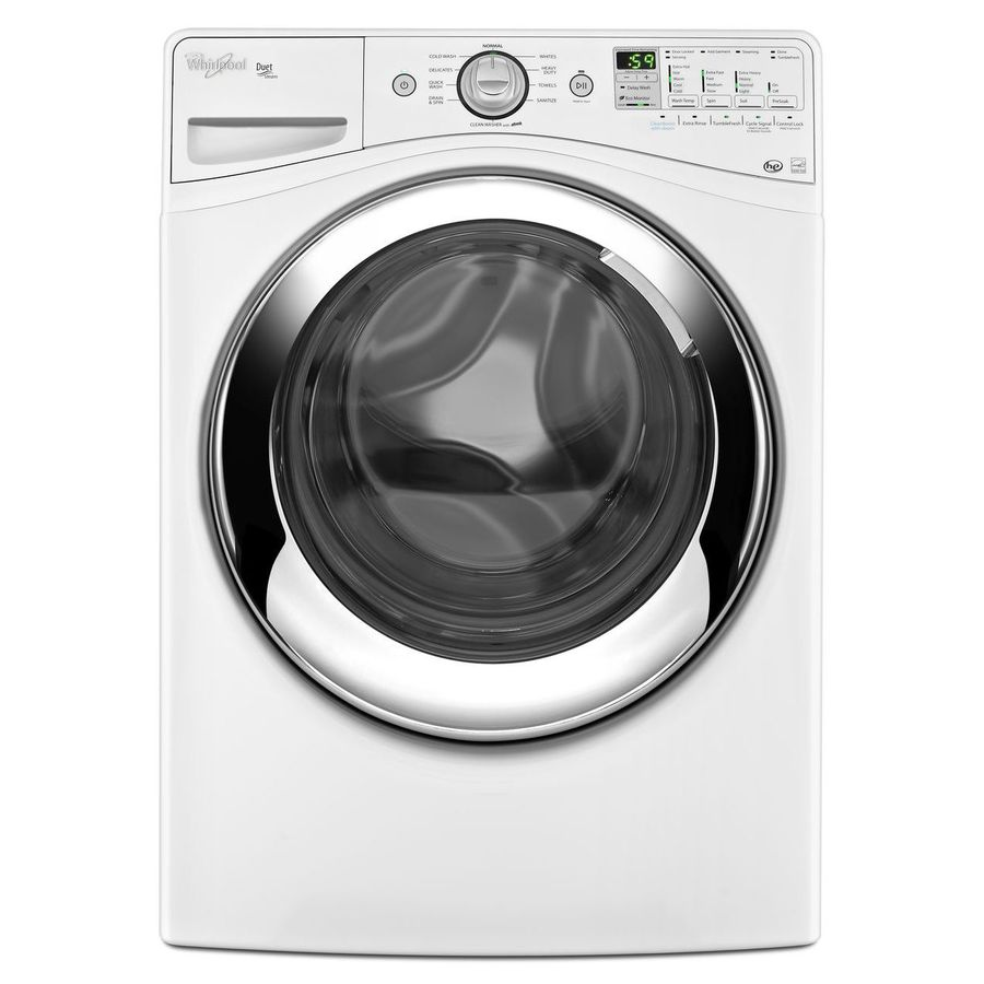 Whirlpool Duet 4.1-cu ft High-Efficiency Stackable Front-Load Washer with Steam Cycle (White) ENERGY STAR