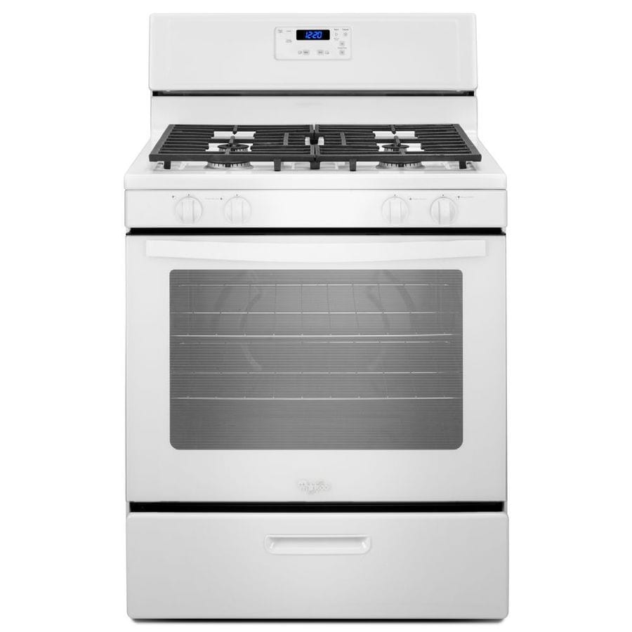 Whirlpool Freestanding 5.1-cu ft Gas Range (White) (Common: 30-in; Actual: 29.88-in)