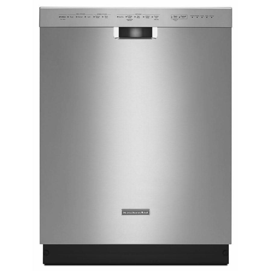 KitchenAid 46-Decibel Built-in Dishwasher (Stainless Steel) (Common: 24-in; Actual: 23.875-in)