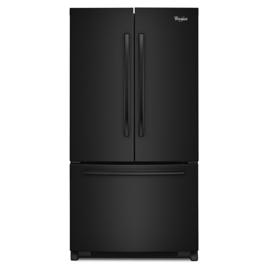 shop whirlpool 25 2 cu ft french door refrigerator with single ice maker black energy star at. Black Bedroom Furniture Sets. Home Design Ideas