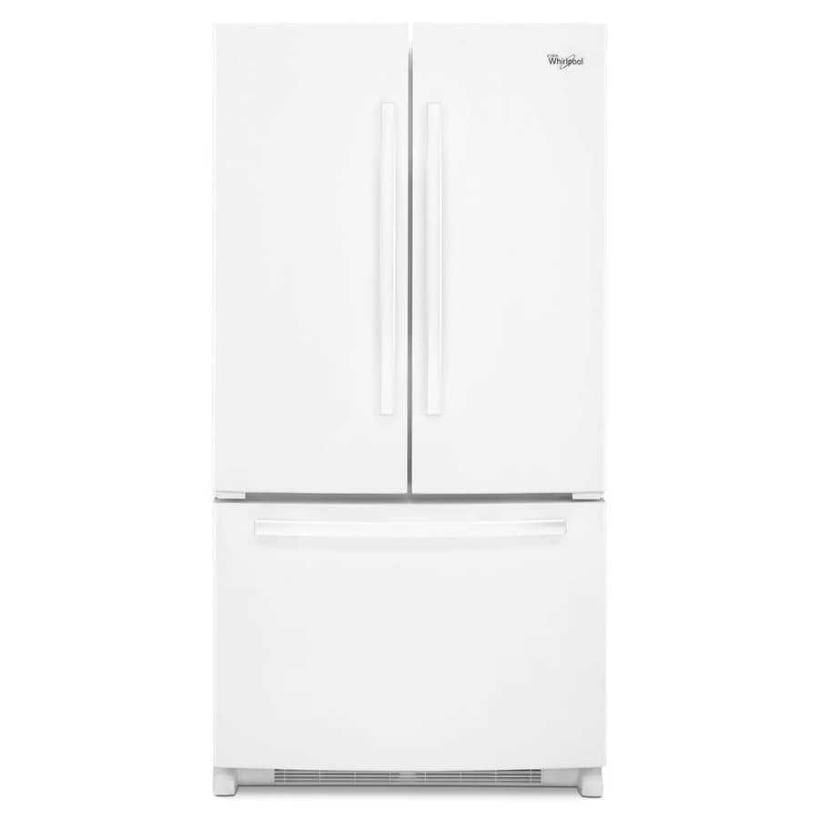 Whirlpool 20-cu ft Counter-Depth French Door Refrigerator with Single Ice Maker (White) ENERGY STAR