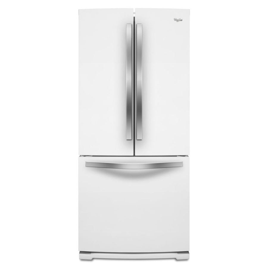 Shop Whirlpool White Ice 19 7 Cu Ft French Door