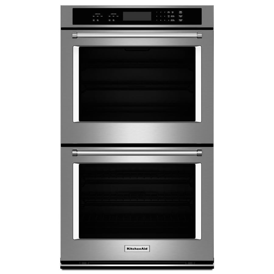 KitchenAid Self-Cleaning Double Electric Wall Oven (Stainless Steel) (Common: 30-in; Actual: 30-in)