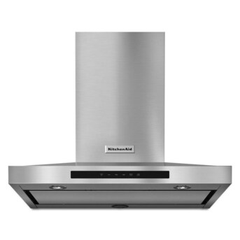 Kitchenaid 30 In Convertible Stainless Steel Wall Mounted Range Hood In The Wall Mounted Range Hoods Department At Lowes Com