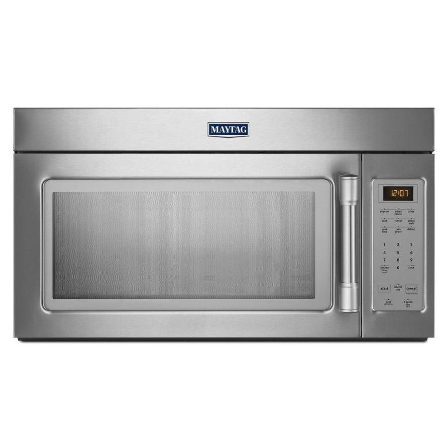 Shop Maytag 1 7 Cu Ft Over The Range Microwave Stainless