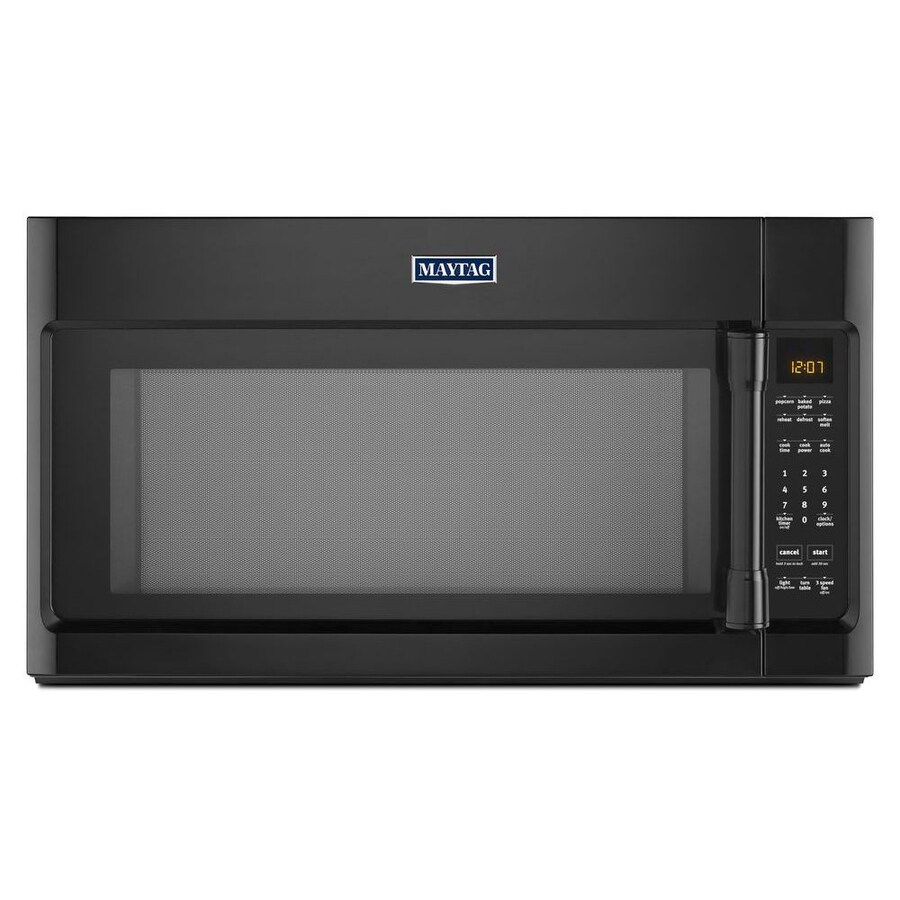 Maytag 2-cu ft Over-the-Range Microwave with Sensor Cooking Controls (Black) (Common: 30-in; Actual: 29.9-in)