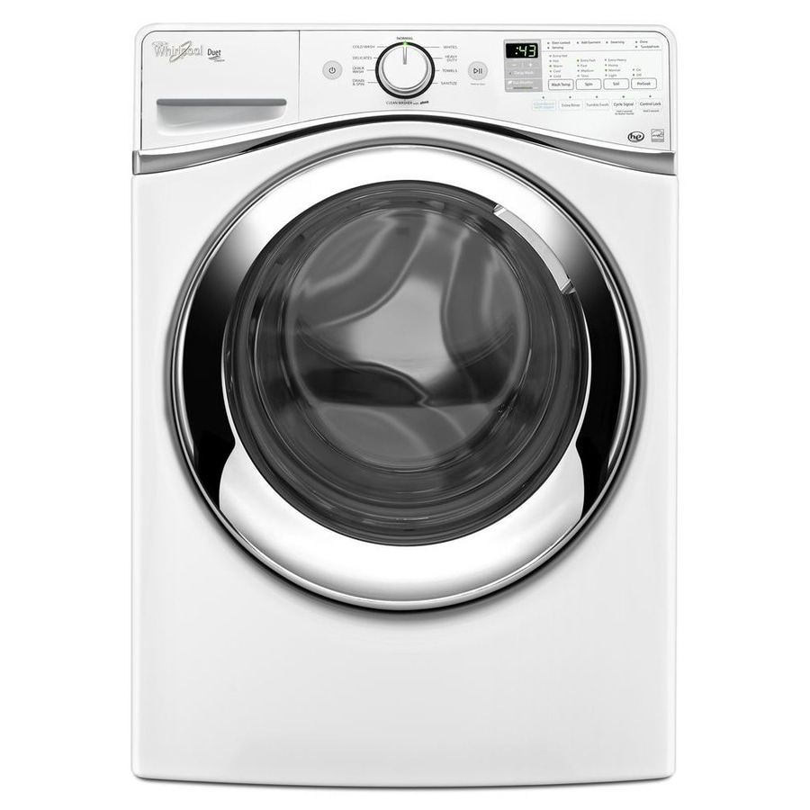 Whirlpool Duet 4.3-cu ft High-Efficiency Stackable Front-Load Washer with Steam Cycle (White)
