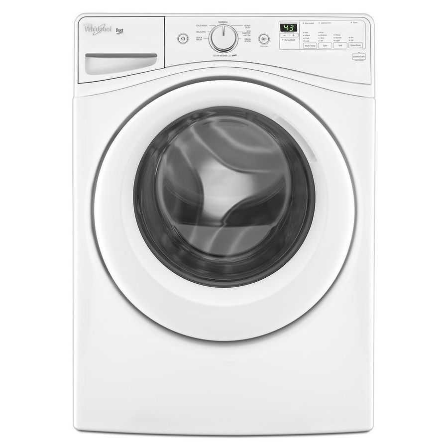 Whirlpool Duet 4 Cu Ft High Efficiency Stackable Front Load Washer White In The Front Load Washers Department At Lowes Com