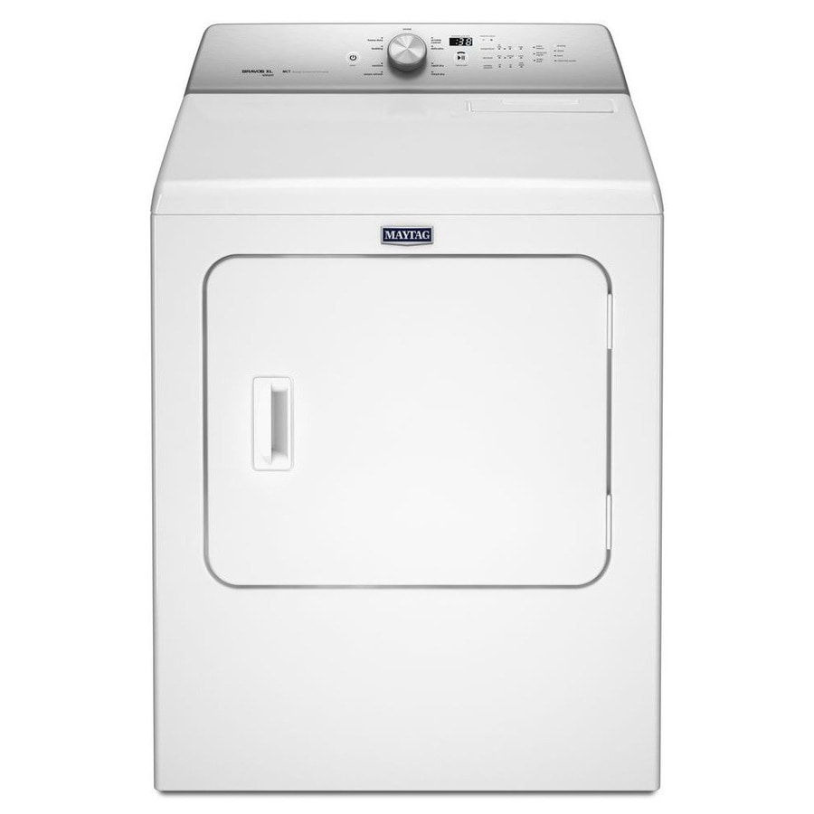 Maytag 7-cu ft Electric Dryer with Steam Cycle (White)