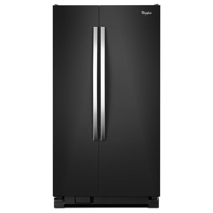 Whirlpool 21.6-cu ft Side-by-Side Refrigerator (Black Ice)