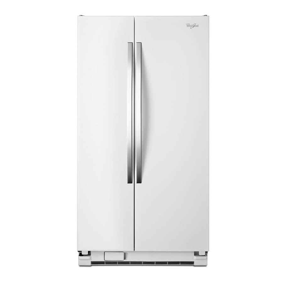 Shop Whirlpool 24 9 Cu Ft Side By Side Refrigerator White