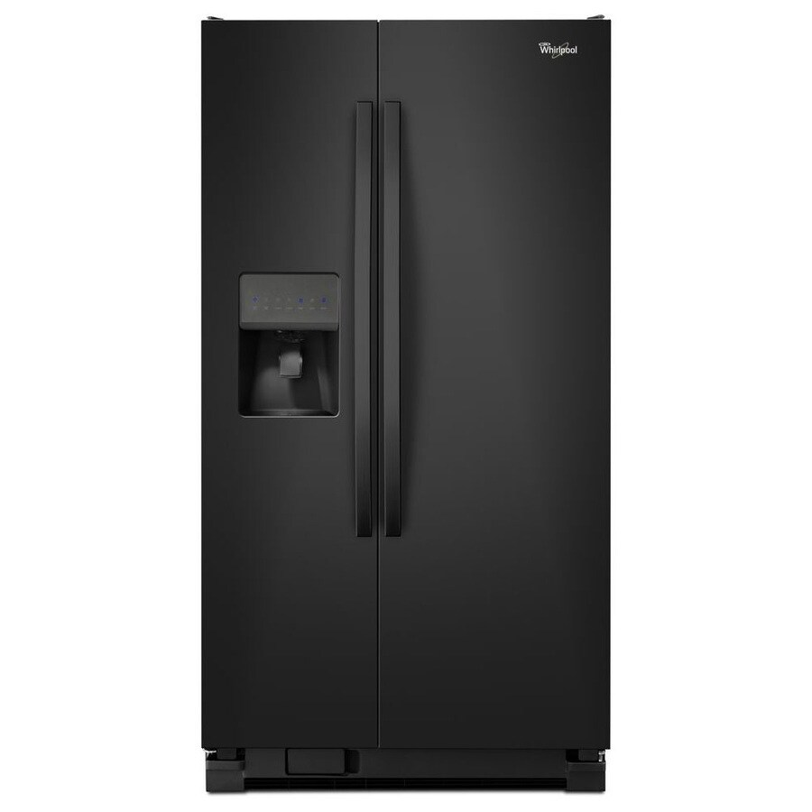 Whirlpool 24.5-cu ft Side-by-Side Refrigerator with Single Ice Maker (Black) ENERGY STAR