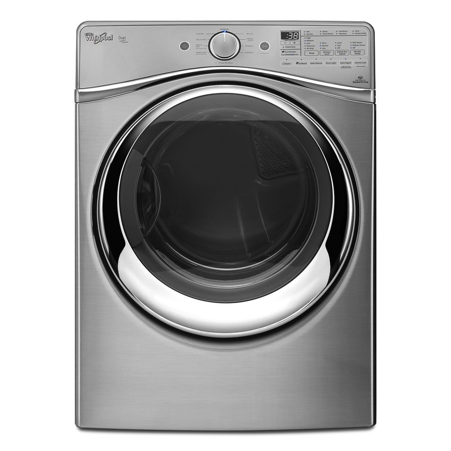 Whirlpool Duet 7.3-cu ft Stackable Electric Dryer with Steam Cycle (Diamond Steel)