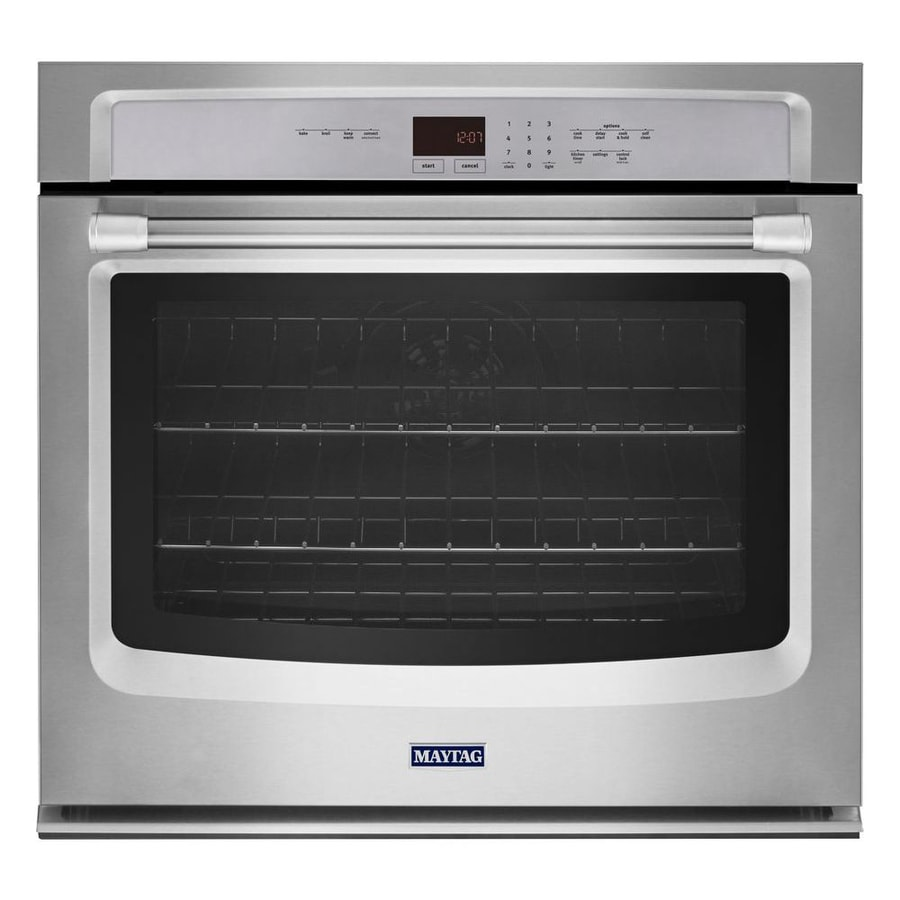 Maytag Convection Single Electric Wall Oven (Stainless Steel) (Common: 30-in; Actual 30-in)