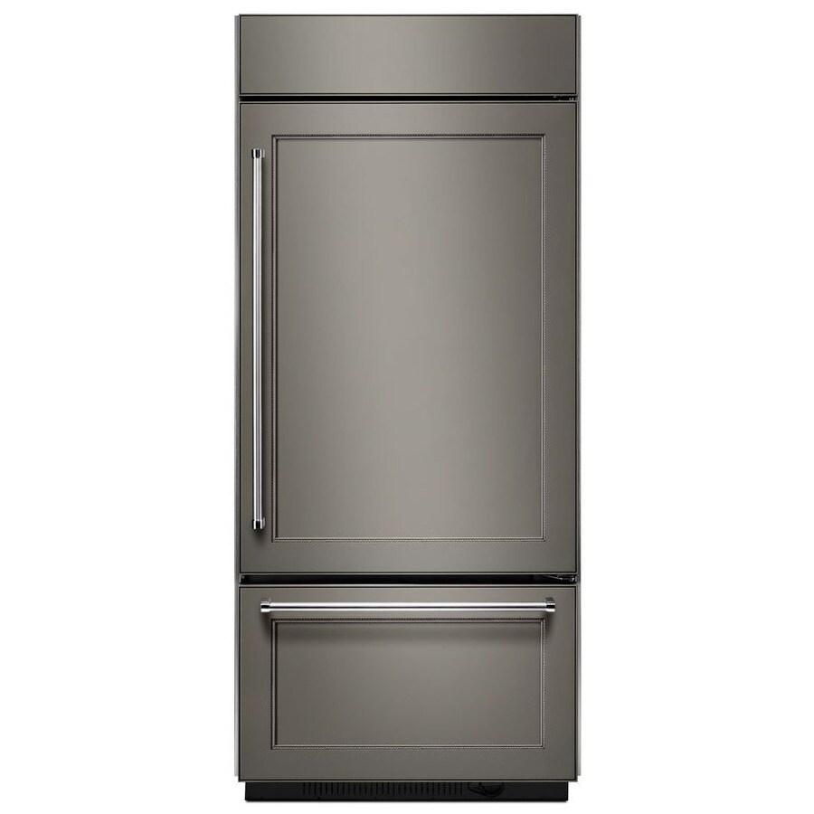 KitchenAid 20.9-cu ft Bottom-Freezer Refrigerator Built-In with Single Ice Maker Ice Maker (Panel Ready) ENERGY STAR
