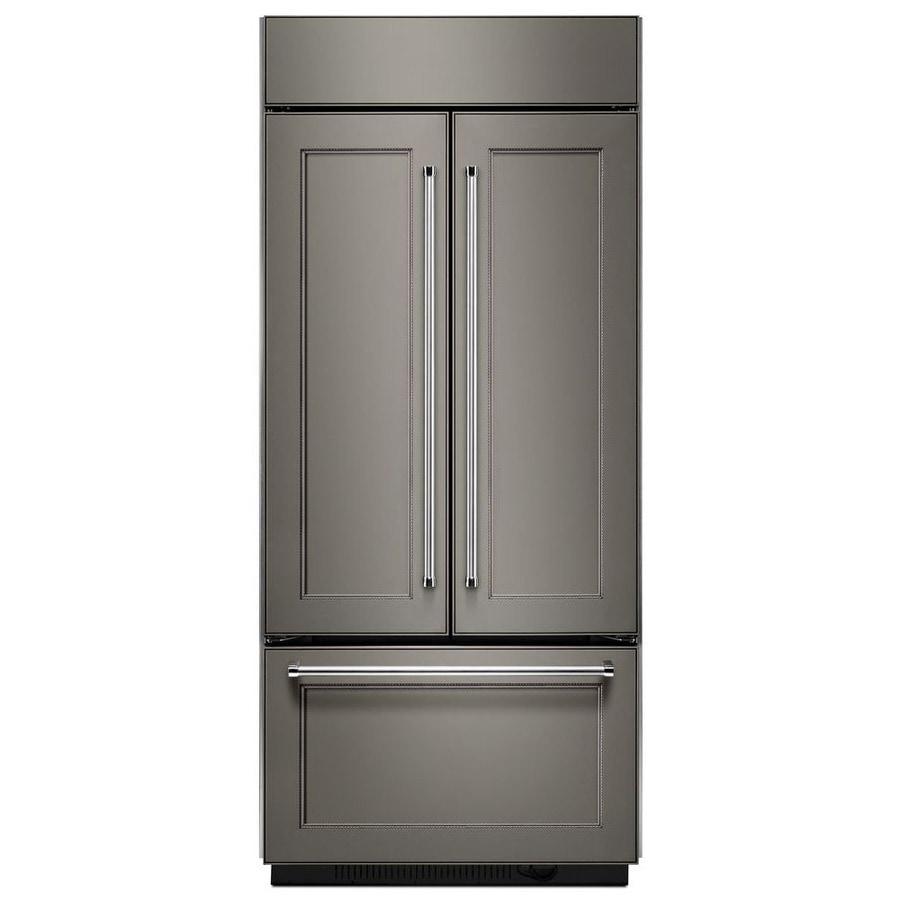 Shop Kitchenaid 24 8 Cu Ft Side By Side Refrigerator With: Shop KitchenAid 20.8-cu Ft Counter-Depth Built-in French