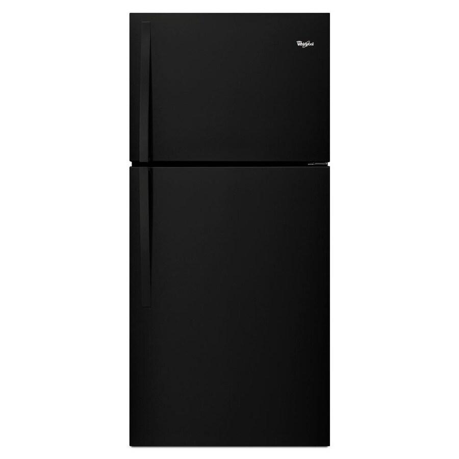Whirlpool 19.2-cu ft Top-Freezer Refrigerator (Black) ENERGY STAR