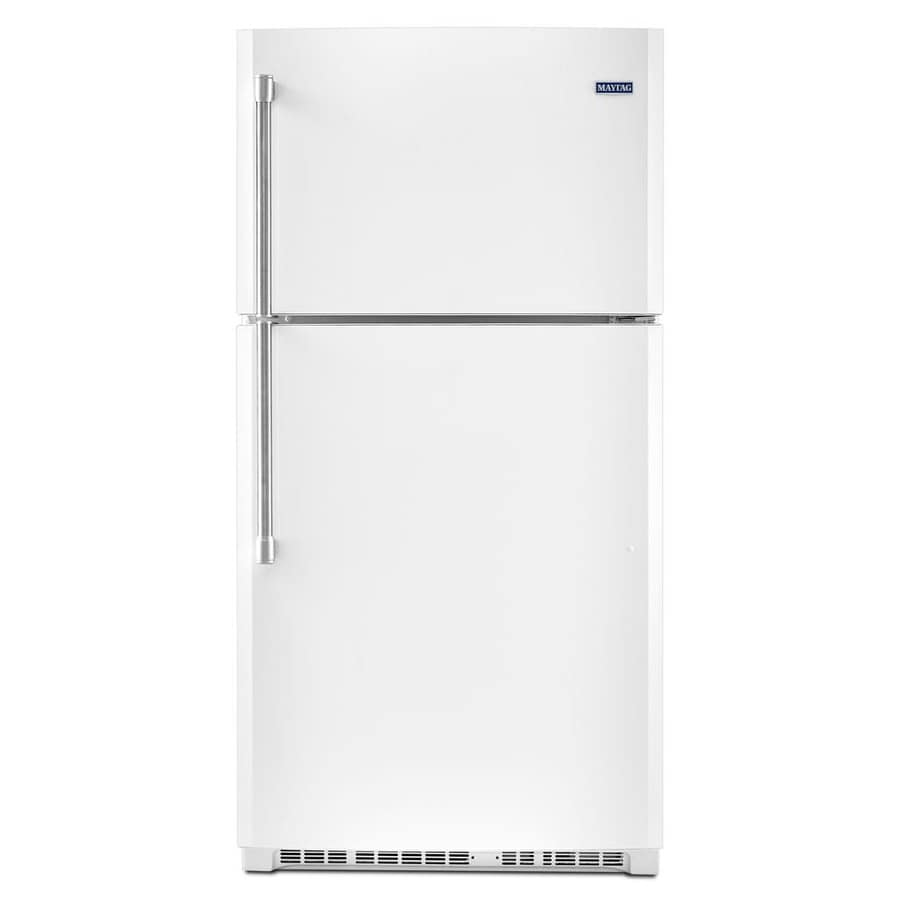 Shop Maytag 21 2 Cu Ft Top Freezer Refrigerator White At