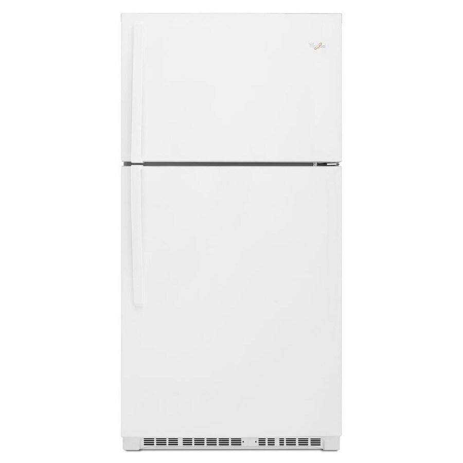 Whirlpool 21.3-cu ft Top-Freezer Refrigerator (White)