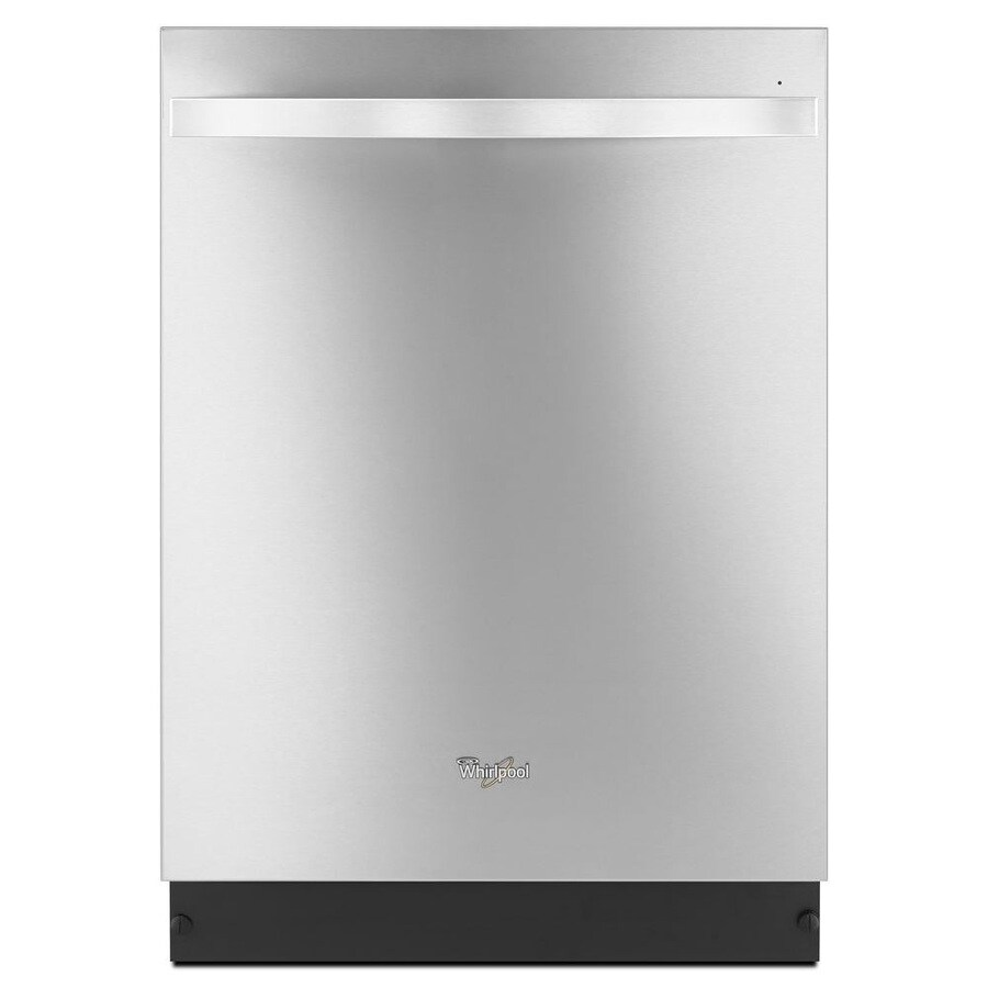 Whirlpool Gold 46-Decibel Built-In Dishwasher (Monochromatic Stainless Steel) (Common: 24-in; Actual: 23.875-in) ENERGY STAR