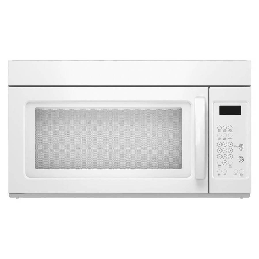 1.6-cu ft Over-the-Range Microwave (White) (Common: 30-in; Actual: 29.9-in)