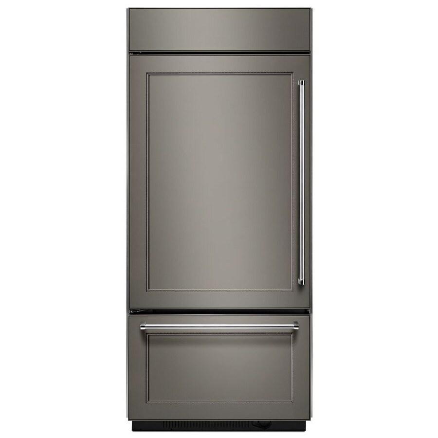 KitchenAid 20.86-cu ft Bottom-Freezer Refrigerator Built-In with Single Ice Maker Ice Maker (Panel Ready) ENERGY STAR