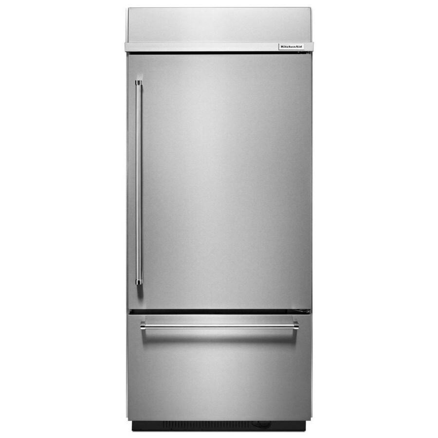 Shop KitchenAid 2086 Cu Ft Bottom Freezer Refrigerator