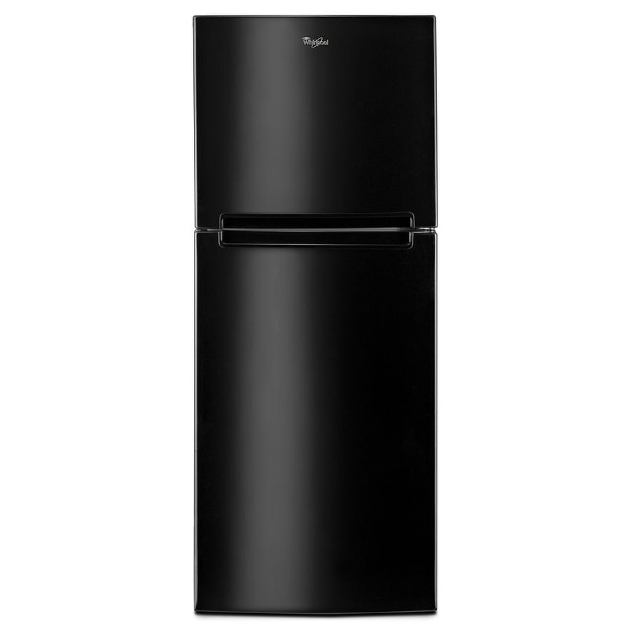 Shop Whirlpool 10 72 Cu Ft Top Freezer Refrigerator Black
