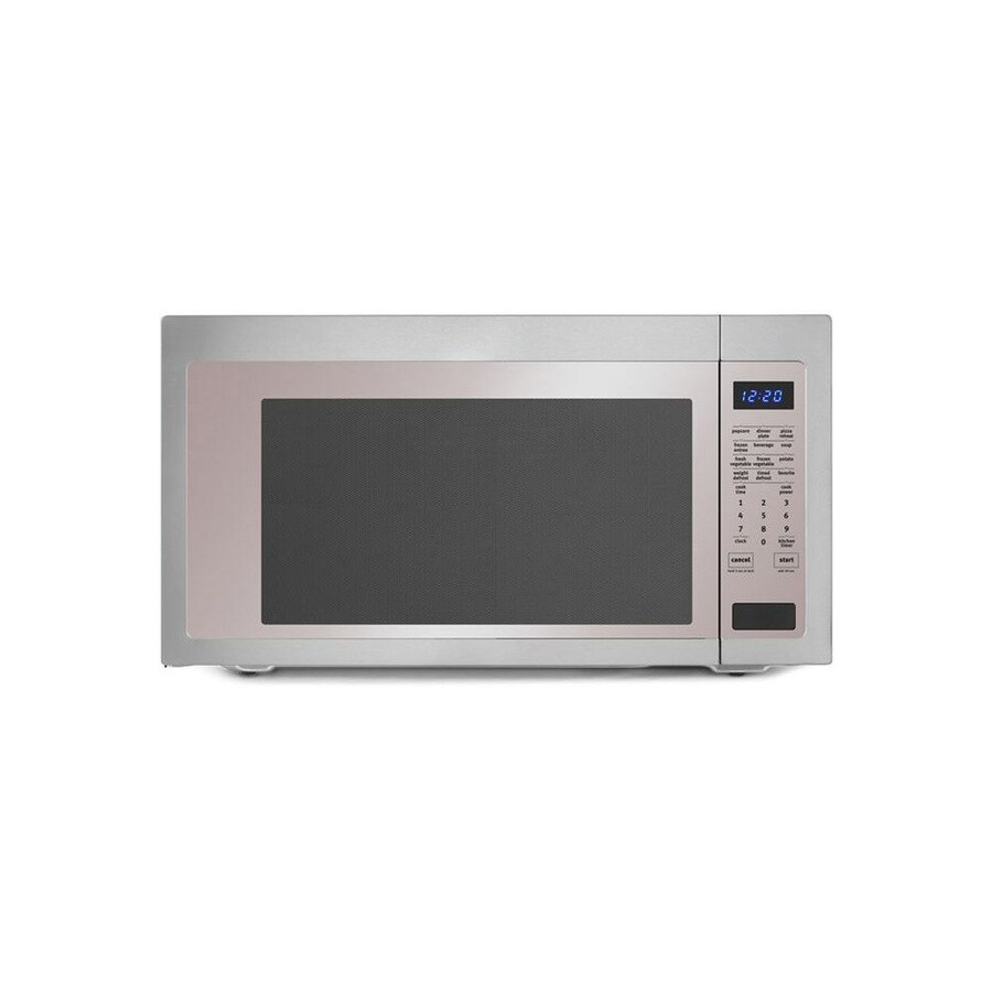 Shop Whirlpool 2.2-cu ft 1,200-Watt Countertop Microwave (Stainless ...