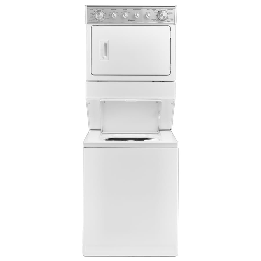 shop whirlpool gas stacked laundry center with 2 5 cu ft