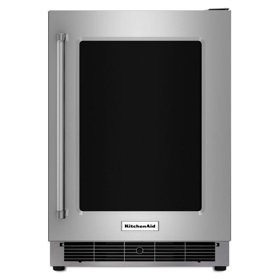 KitchenAid 5.1-cu ft Built-In/Freestanding Compact Refrigerator (Stainless Steel)