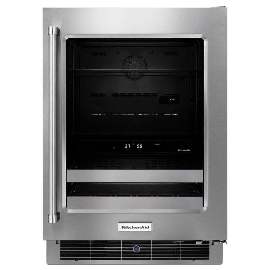 KitchenAid 4.8-cu ft Stainless Steel Built-In/Freestanding Beverage Center