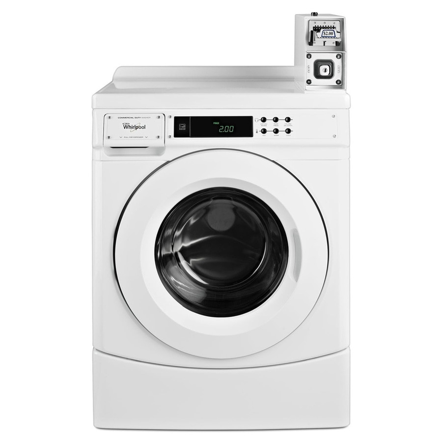 Whirlpool 3.1-cu ft Coin-Operated Front Load Commercial Washer (White) ENERGY STAR