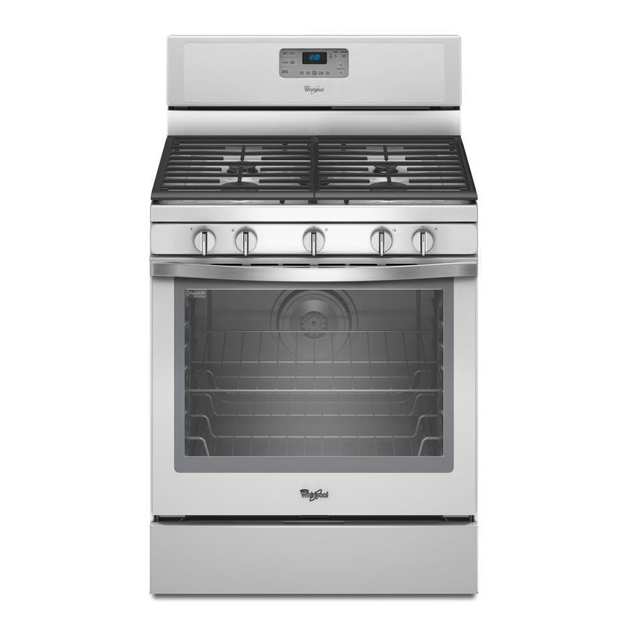 Whirlpool 5-Burner Freestanding 5.8-cu Self-Cleaning Convection Gas Range (White Ice) (Common: 30-in; Actual: 29.87-in)