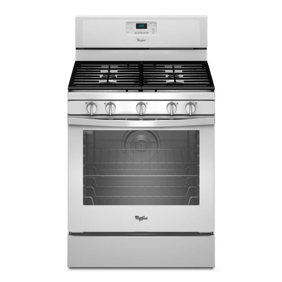 Whirlpool 5-Burner Freestanding 5.8-cu Self-Cleaning Convection Gas Range (White) (Common: 30-in; Actual: 29.87-in)