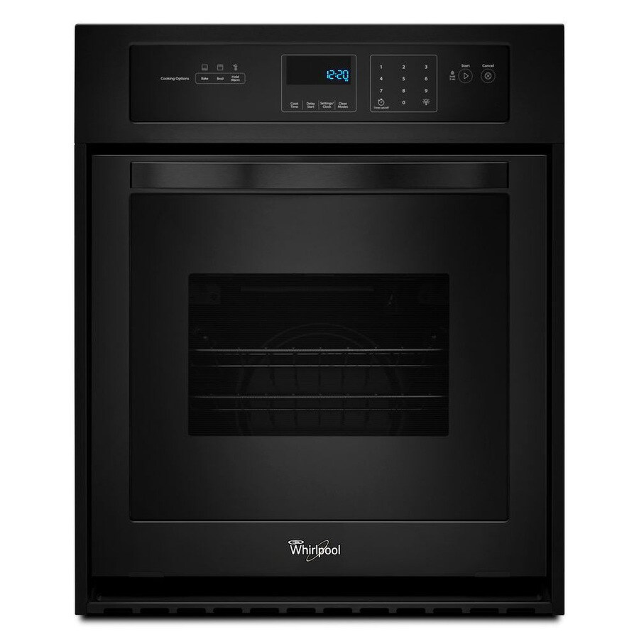 Shop Whirlpool Single Electric Wall Oven Black Common
