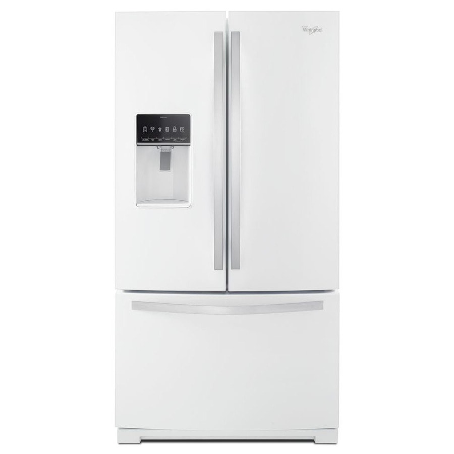 Shop whirlpool 26 8 cu ft french door refrigerator with - Refrigerateur table top sans freezer ...