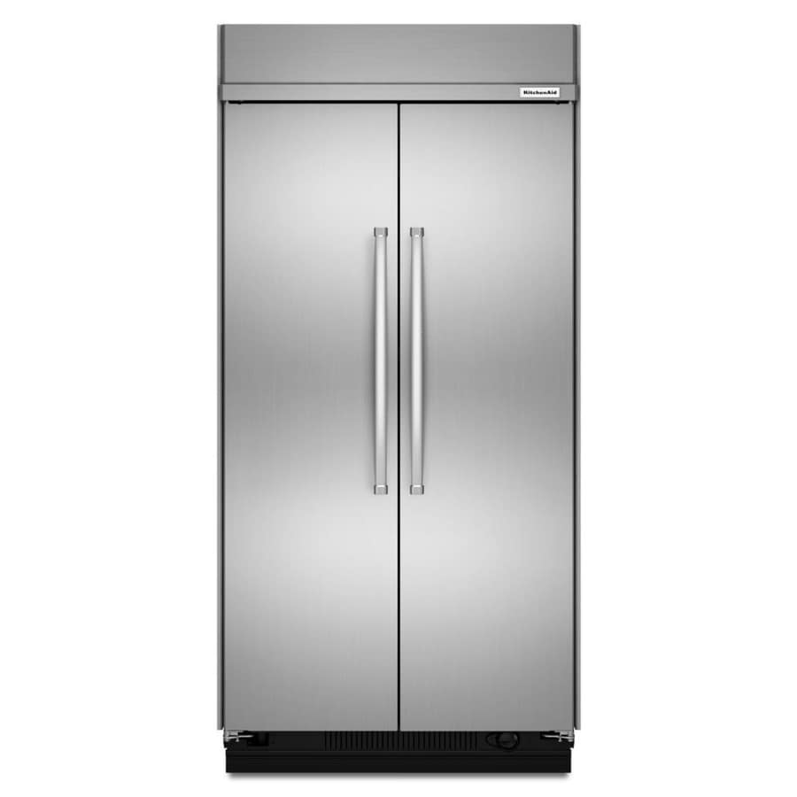 Shop KitchenAid 30.1-cu Ft Counter-Depth Built-in Side-by-Side Refrigerator With Single Ice