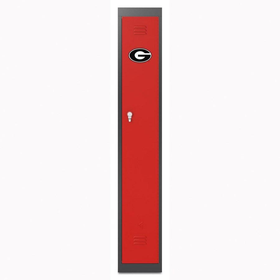 Gladiator PrimeTime 12-in W x 72-in H x 18-in D Red Hammered Granite Steel Storage Locker