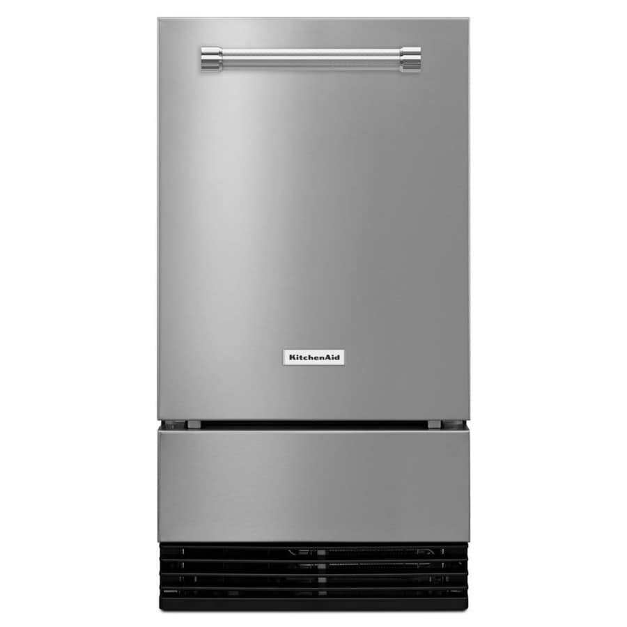 KitchenAid 35-lb Capacity Freestanding/Built-In Ice Maker (Stainless Steel) (Common: 18-in; Actual: 17.87-in)