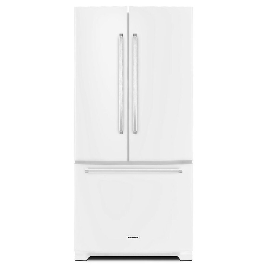 KitchenAid 22.1-cu ft French Door Refrigerator with Single Ice Maker (White) ENERGY STAR