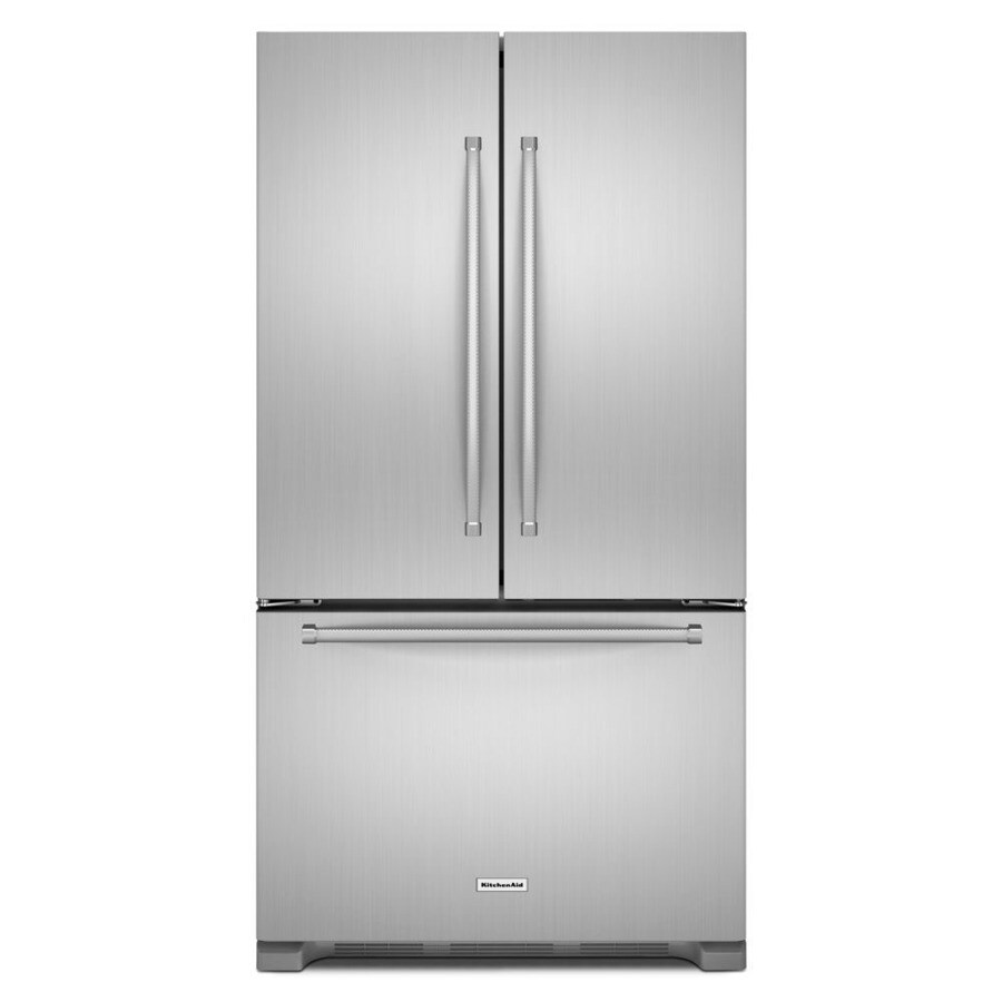 KitchenAid 25.2-cu ft French Door Refrigerator with Single Ice Maker (Stainless Steel) ENERGY STAR