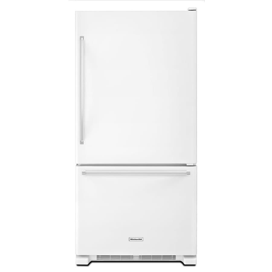 KitchenAid 18.67-cu ft Bottom-Freezer Refrigerator (White) ENERGY STAR