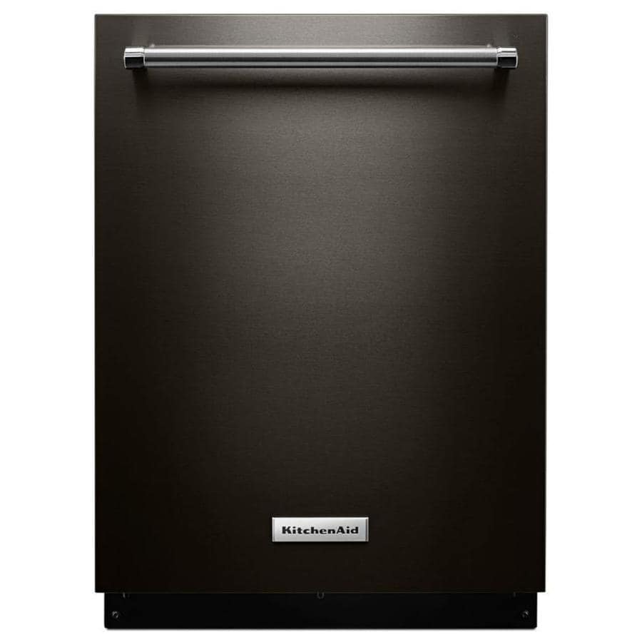 Kitchenaid Bold Black Stainless: Shop KitchenAid 44-Decibel Built-In Dishwasher (Black